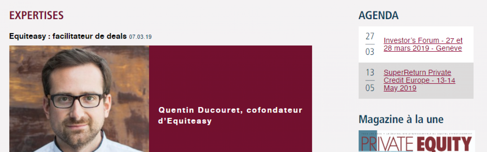 Equiteasy : Facilitateur de deals