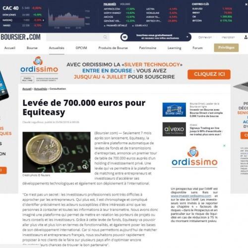 Equiteasy dans BOURSIER.COM