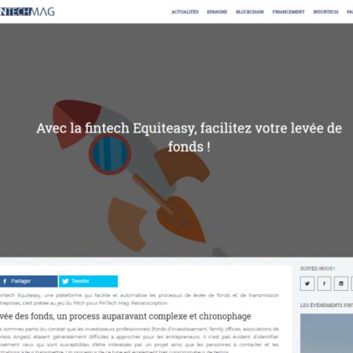 Equiteasy dans FINTECH MAG